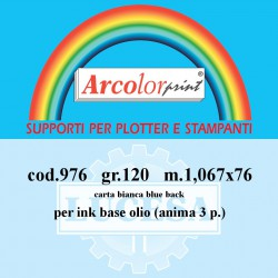 Carta Blue Back 1,067x76 g.120 per manifesti anima 3""